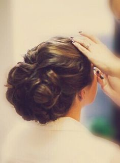 Wedding hair. By: Lindsey Roeske