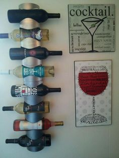 DIY Wall Mounted Wine Rack Idea - Cool Wine Rack Ideas, http://hative.com/10-cool-wine-rack-ideas/,