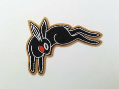 Black Rabbit | Hand Embroidered Chainstitch Wool Felt Patch