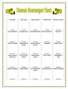 human bingo scavenger hunt template classroom pinterest human bingo. Black Bedroom Furniture Sets. Home Design Ideas