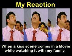 Desi memes.  Kissing scene