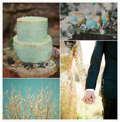 Turquoise and Gold inspiration board
