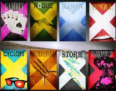 Nicholas Hyde Boils Down the X-Men [Art] I would hang these up in my house