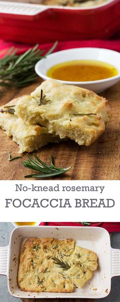 No-knead rosemary focaccia bread (ready in just one hour!)