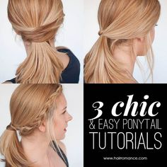 We all wear ponytails every day but your everyday hair doesn't have to be boring. Here are three simple twists on your basic ponytail to give you good hair days all through the week. Brought to you by L'Oréal Paris Elvive So what lifts a boring ponytail and makes you look more polished? With the...Read More »