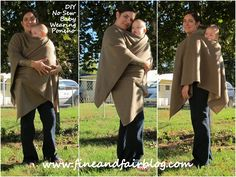 Fine and Fair: DIY No Sew Babywearing Poncho Coat