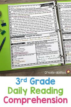 This Reading Comprehension Passages Bundle is great for 3rd grade or homeschool students. Pack includes 50 reading passages for your third graders. Use during literacy centers, stations, review, enrichment, early & fast finishers, gifted & talented {GATE}, homework, or in small groups. Passages cover skills and strategies such as visualizing, asking questions, main idea & details, text structures & more. {English Language Arts, Activities, Printables, Balanced Literacy} English Teacher Classroom, 3rd Grade Classroom, Classroom Ideas, Reading Workshop, Reading Skills, Guided Reading, Third Grade Reading, Middle School Reading, English Language