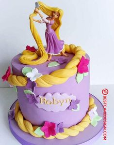 50 Most Beautiful looking Tangled Cake Design that you can make or get it made on the coming birthday. Rapunzel Birthday Cake, Birthday Cakes Girls Kids, Disney Princess Birthday Cakes, 5th Birthday Cake, Rapunzel Cake Ideas, Cake Designs For Kids, Cool Cake Designs, Cake Designs Images, Torta Princess