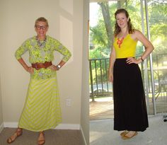 What We Wore: Yellow and Maxis | Two Take on Style