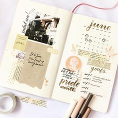 """802 Likes, 5 Comments - Eris (@sadgirlstudying) on Instagram: """"Reworked monthly spread for June.✌ Bit busy this month, and as much as I want to keep posting new…"""""""