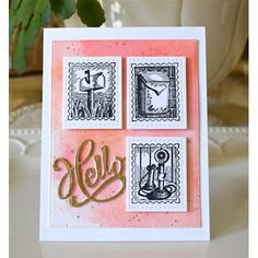Serendipity Stamps Postoid Cling Set-50% Off September Stamp of the Month!  Plus Pretty Pink Posh Storybook 1 dies and Serendipity Hello Die.