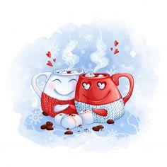 Valentines Day Doodles, Valentines Day Card Templates, Valentines Day Drawing, Valentines Day Greetings, Valentines Day Background, Vintage Valentines, Illustration Noel, Illustrations, Diy Xmas