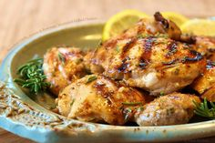 Succulent Garlic, Lemon and Rosemary Marinated Grilled Chicken