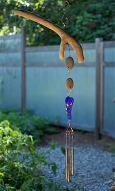 West Coast Driftwood, Beach Stone, Sea Glass Wind Chime - Coast Chimes - 1