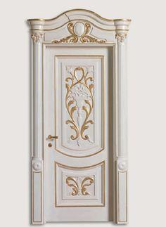 LUIGI XVI 4014/QQ/INT. lacquered shaded blue with gold topcoat. Luigi XVI© Classic Wood Interior Doors | Italian Luxury Interior Doors | New Design Porte Emotions