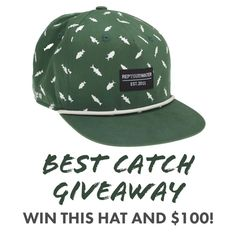 We partnered with our good friends at RepYourWater to give away 5 of these awesome new Best Catch Hats as well as a $100 Gift Card from RepYourWater.   Tight lines! Fishing Photography, Fishing Gifts, Giveaways, Best Friends, Articles, Hats, Awesome, Beat Friends, Bestfriends