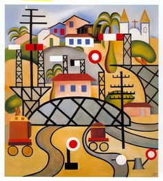 Estrado de Ferro by Tarsila Do Amaral