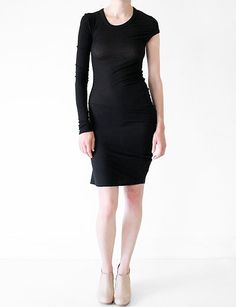 ALEXANDER WANG T, 2X2 DRAPED DRESS: dress or top?! my credit card and conscience can only handle one.