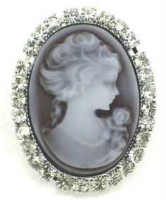 Dysfunctional Doll - Rings Black Cameo Gothic Victorian Ring : Rings