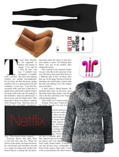 """My chill day"" by lucychiozza ❤ liked on Polyvore featuring Lands' End, UGG, Vince, PhunkeeTree and Casetify"