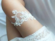 Garter - Düğün Garter, Düğün, Streç Dantel jartiyer, - DaWanda üzerinde gelinlik-2 ile benzersiz bir ürün ✿ ☺
