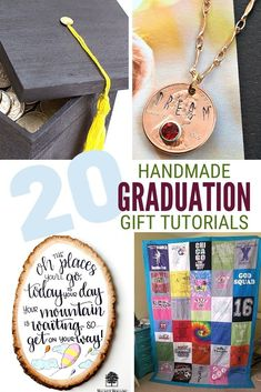 Celebrate your senior by giving them a handmade gift from you! A collection of 20 DIY Graduation Gifts that you can make! Each includes a complete tutorial. #thecraftyblogstalker #giftideas #graduationgiftideas #grads Diy Gifts Cheap, Easy Diy Gifts, Diy Crafts For Gifts, Creative Gifts, Homemade Gifts, Creative Art, Diy Graduation Gifts, Graduation Ideas, Gift Card Presentation