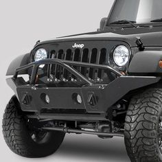 Great Jeep® Front Bumpers   Rampage   RPG 86510   Rampage Products Marathon Bumper  In Smooth Black With Grille Guard For Jeep® Wrangler U0026 Wrangler Unlimited JK  ...