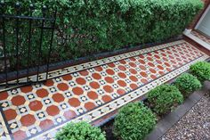 Reproduction traditional style Victorian path tiles supplied by…