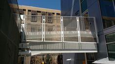 メタルメッシュパネル施工事例/外部階段ステップ「13Z-145 Stainless Steel Wire」