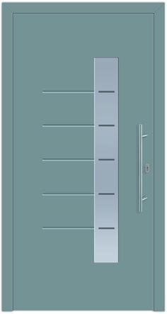 Modell Castor 2 Aluminium-Eingangstüre in grau - Außenansicht! Erhätlich bei Fenster-Schmidinger aus Gramastetten in Oberösterreich! #doors #türen #alutüren