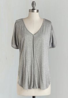 Morning in the Studio Top in Grey, @ModCloth