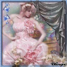 pink Foto Gif, Art Periods, Pink Stuff, Pink Art, Vintage Pictures, Girly Girl, Photo Editor, Vintage Art, Fantasy Art