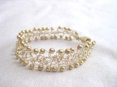 Love Knot Friendship Bracelet Delicate Gold by RobynsHookDesigns, $18.00