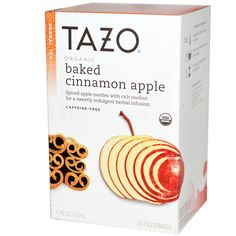 Tazo Teas, Organic Baked Cinnamon Apple, Herbal Tea, Caffeine-Free, 20 Filterbags, 1.76 oz (50 g)