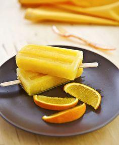 Polos o paletas de naranja