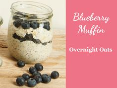 Overnight Oats Rezept Blueberry Muffi