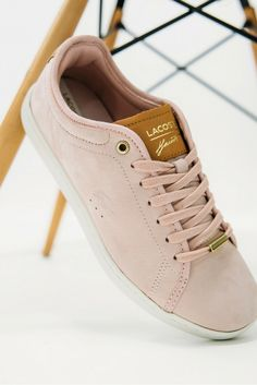 Lacoste Carnaby Evo trainers in lt pink with free UK delivery. Powder Pink, Lacoste, Baby Blue, Pretty In Pink, Trainers, Converse, Sneakers, Fashion, Shopping