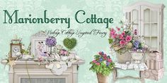 Marionberry Cottage ~ Shabby Chic - Linens & Lace - Roses Galore - Handmade - Purses/Totes - Pillows - Cottage/Country  ------- easy order