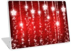 Magical Red Falling Stars | Design available for PC Laptop, MacBook Air, MacBook Pro, & MacBook Retina