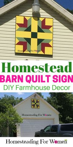 Homestead Barn Quilt Sign |DIY Farmhouse decor |DIY Craft Project.