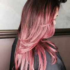Pink hair, the stage before the reveal.