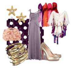 Violet by giubagnols on Polyvore featuring polyvore, fashion, style, Alberta Ferretti, Diane Von Furstenberg, Christian Louboutin, Dorothy Perkins, Juicy Couture and clothing