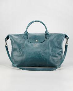 Longchamp Le Pliage Cuir Large Handbag - Neiman Marcus