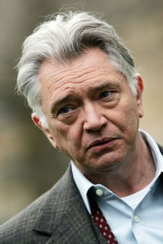 Martin Shaw during filming of a previous series of Inspector George Gently in Durham