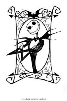 before christmas coloring pages cartoni nightmare before christmas ...