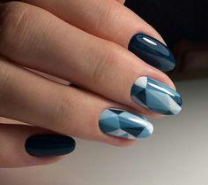 Imagem de nails, beauty, and blue