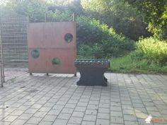 Tafelvoetbaltafel van beton Antraciet bij VSO De Taalbrug DG in Eindhoven
