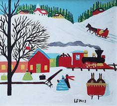 Maud Lewis: Train Station