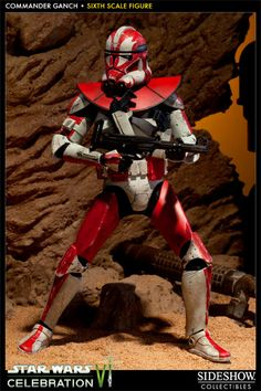 Sideshow Collectibles Star Wars - Clone Commander Ganch Sixth Scale Figure ~ Limited Edition ~ SRP: $124.99 (Sideshow sold out)