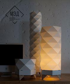 Original Pattern 01 Floor Lamps Collection DigsDigs is part of Origami lamp - Diy Floor Lamp, Decorative Floor Lamps, Luminaire Design, Lamp Design, Luminaria Diy, Torchiere Floor Lamp, Room Lamp, Desk Lamp, Diy Flooring